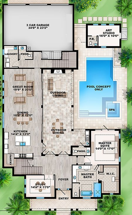 Coastal House Plan 207