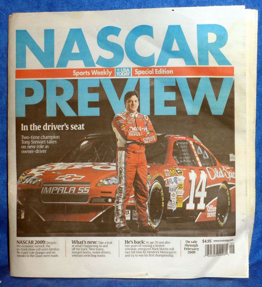 Sports Weekly USA Today Special Edition NASCAR February