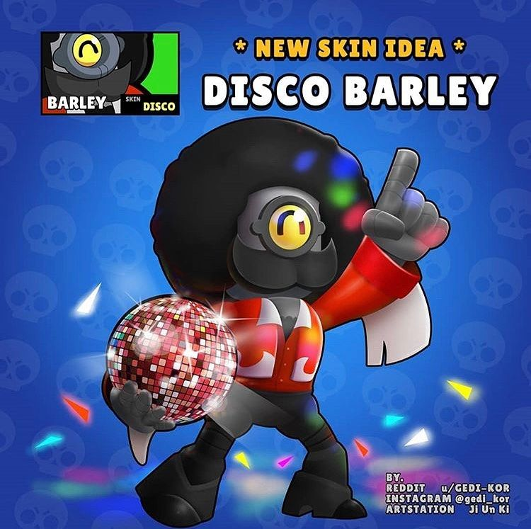 Disco Barley Rate This Skin Idea In The Comments Brawl Star Character Star Wallpaper