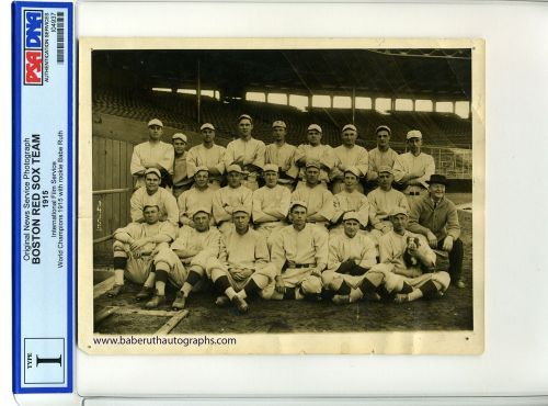 1915 Red Sox Team Photograph With Rookie Babe Ruth PSA/DNA Type 1