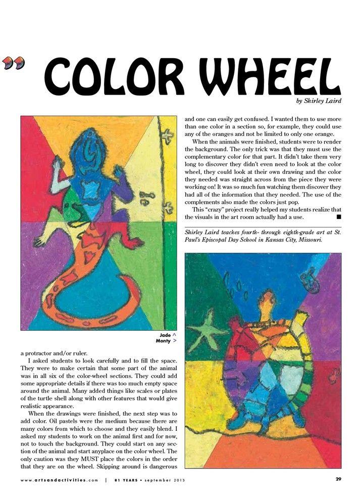 Crazy Color Wheel Arts Activities Art Lessons Art Art