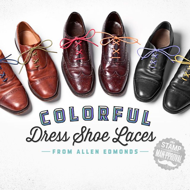 Colorful Dress Shoe Laces By Allen Edmonds Dress Shoes