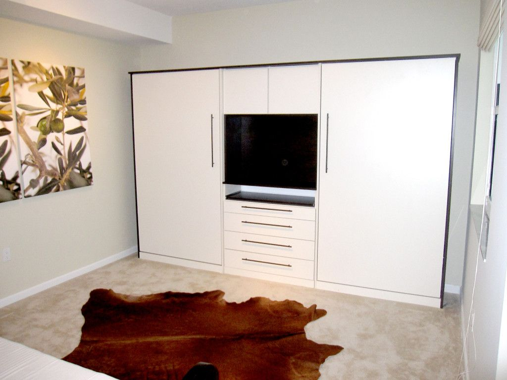Bedroom: Wall Bed Space Saving Furniture Ikea Gallery With Closet And  Cowhide Rug Murphy Bed