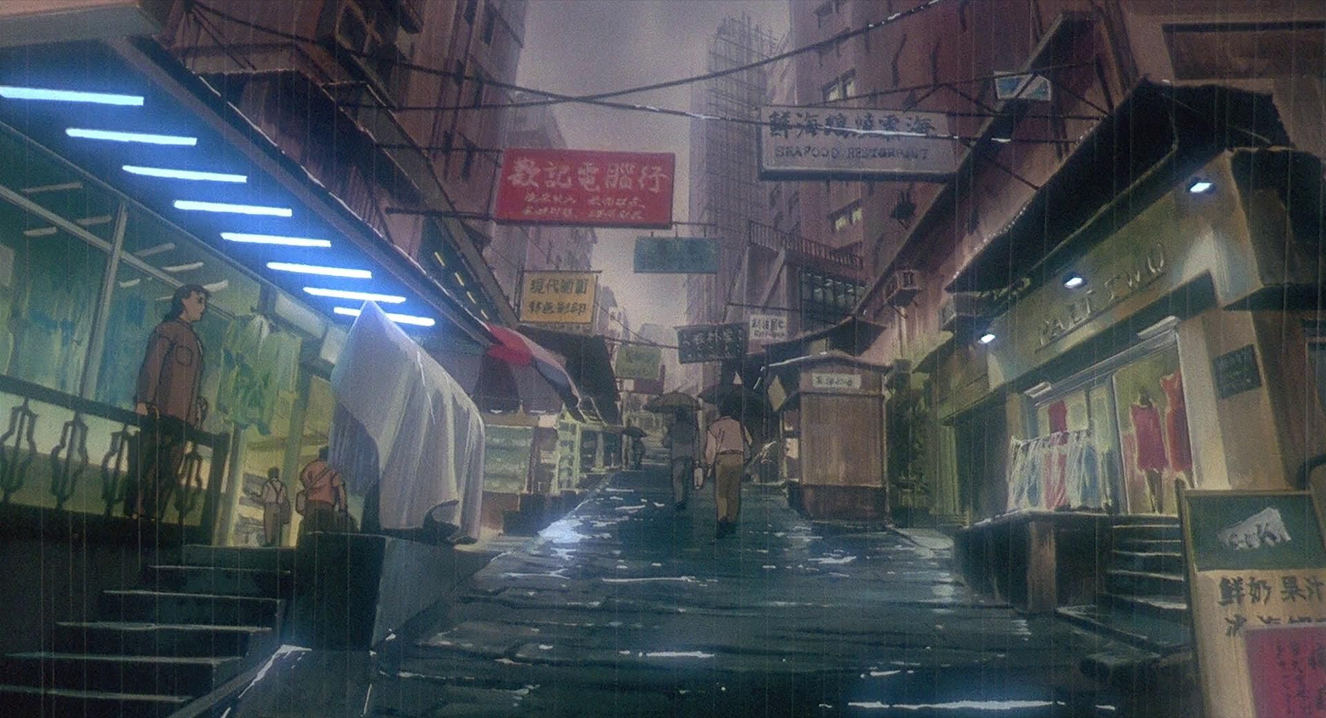 Gits Architecture Ghost In The Shell Anime Background Cyberpunk City