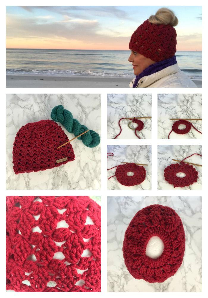 Dec 31 How to Make Brave Primrose Messy Bun Hat Crochet Pattern