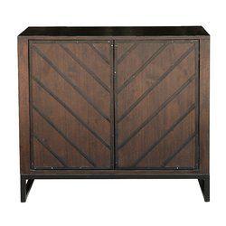 Best Leonia 2 Door Accent Cabinet Retro Home Decor Brown 400 x 300
