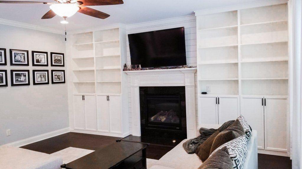 DIY Built Ins IKEA Billy Bookcase Hack in 2020 Ikea