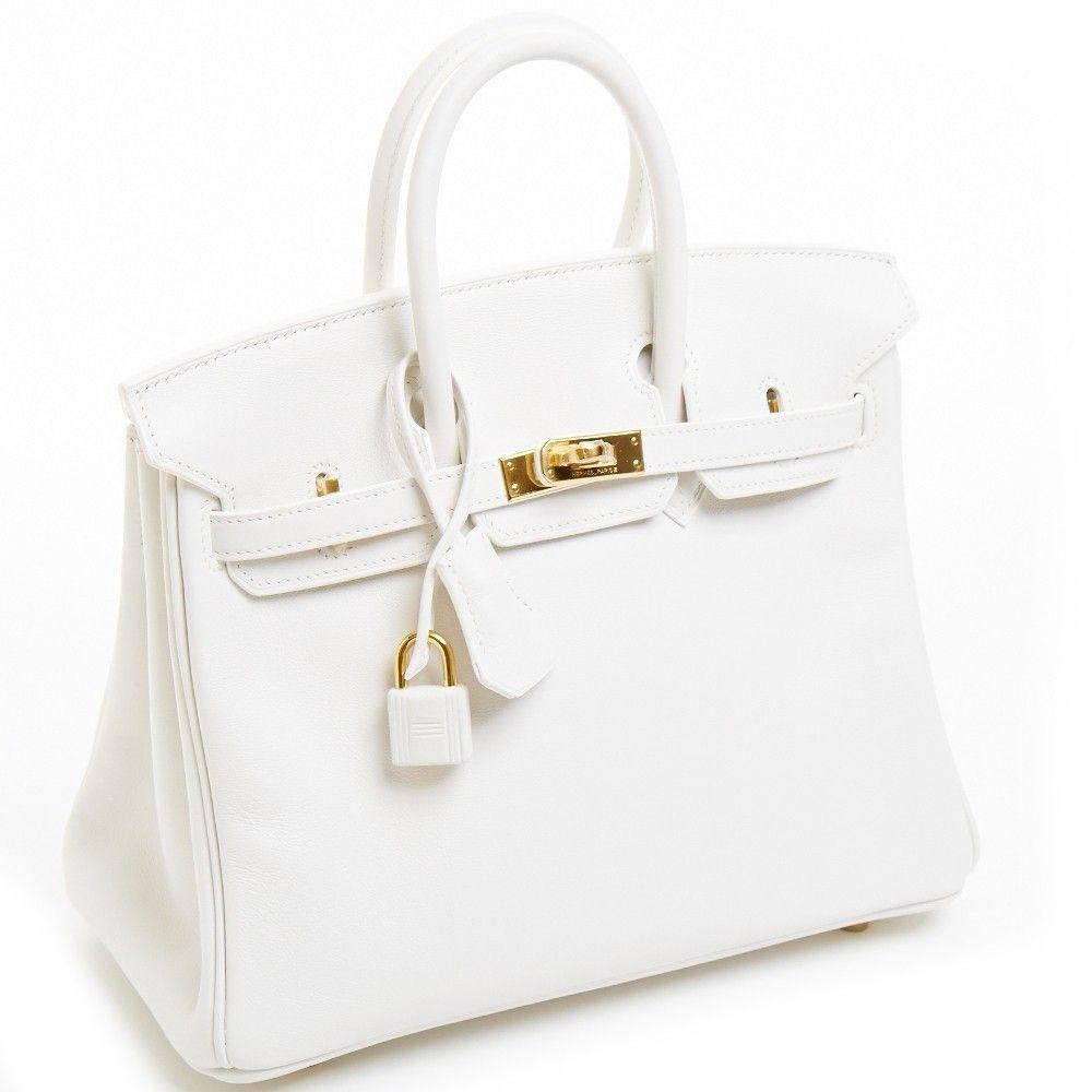 Hermes White Bag