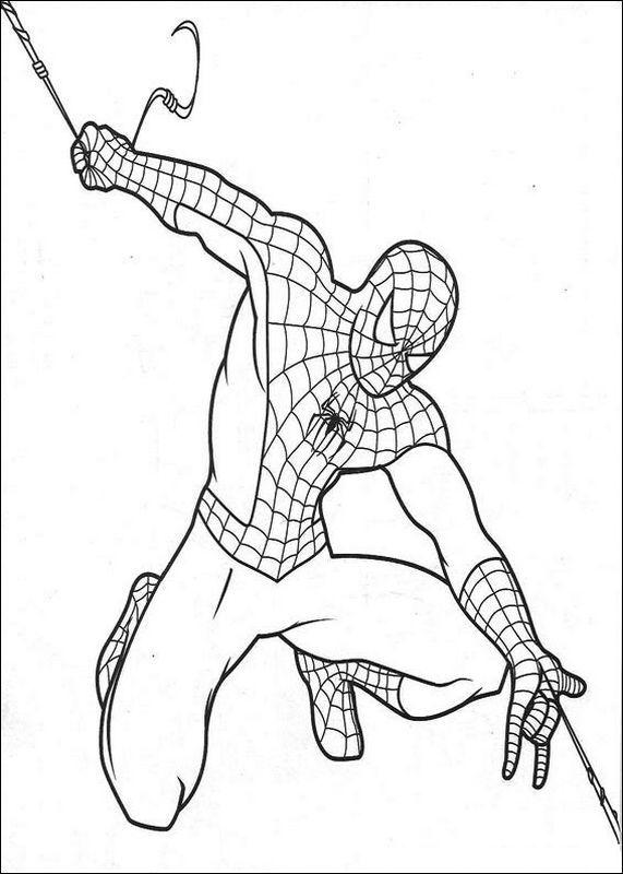 Les Beaux Coloriages De Spiderman Coloriage Spiderman