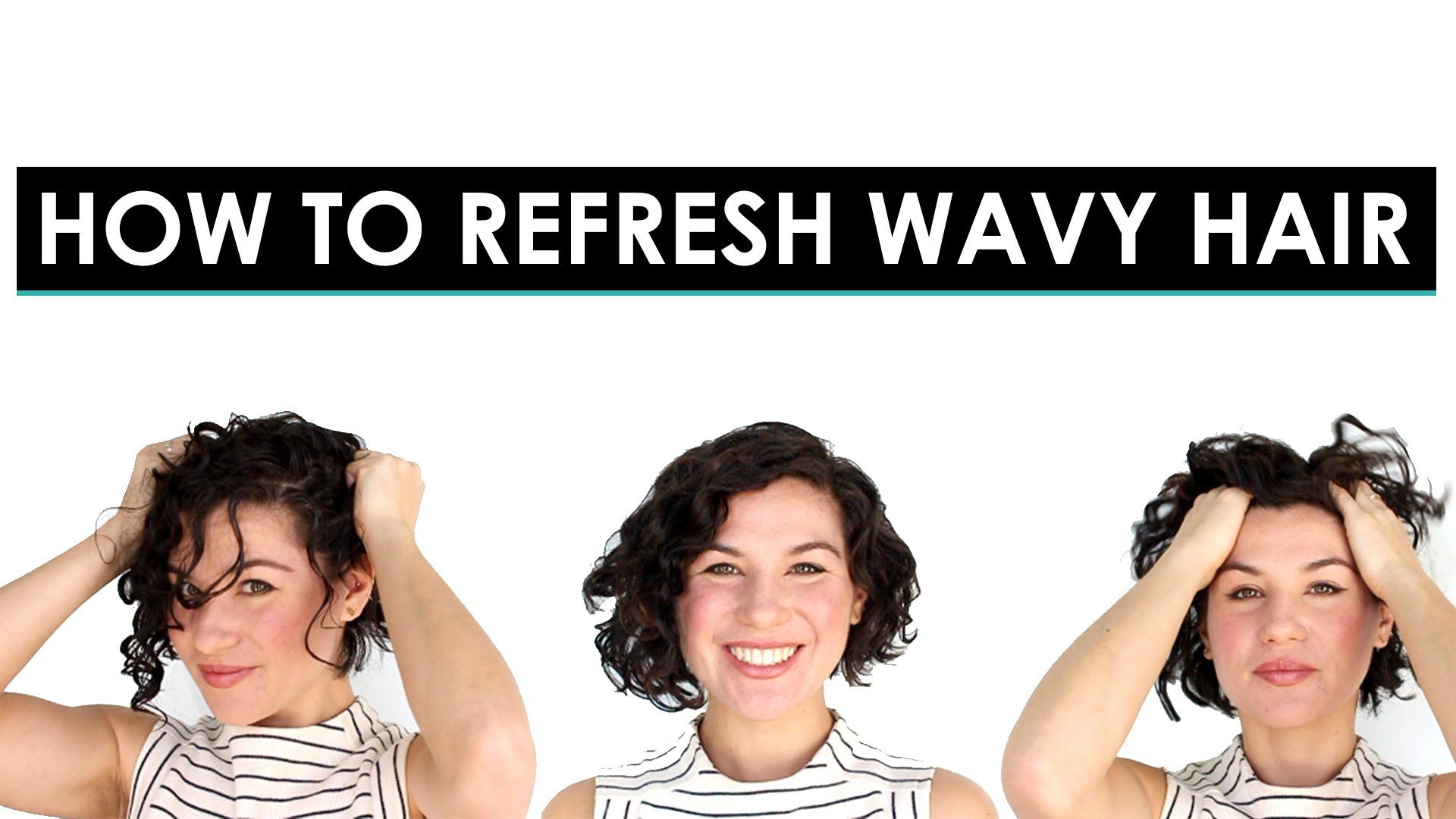 How to Refresh 2nd Day Wavy Hair