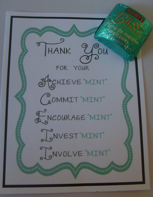 picture relating to Thank You for Your Commit Mint Printable identified as Lovable sweet jar for a present interesting things Instructor