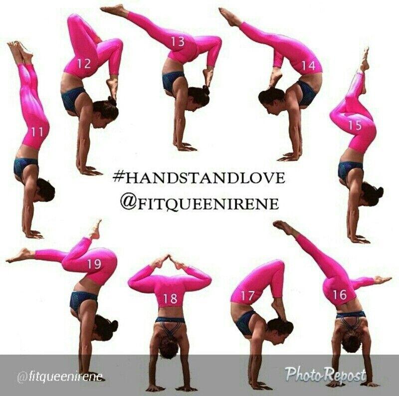 Handstand love 11/19 challenge Pinterest Handstand