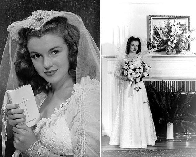 Top 10 Most Iconic Wedding Dresses Of History Marilyn Monroe Wedding Iconic Weddings Famous Wedding Dresses