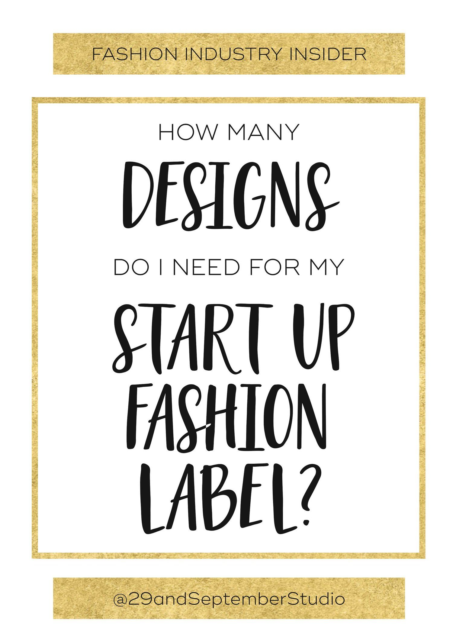 How many items should I have in my fashion range