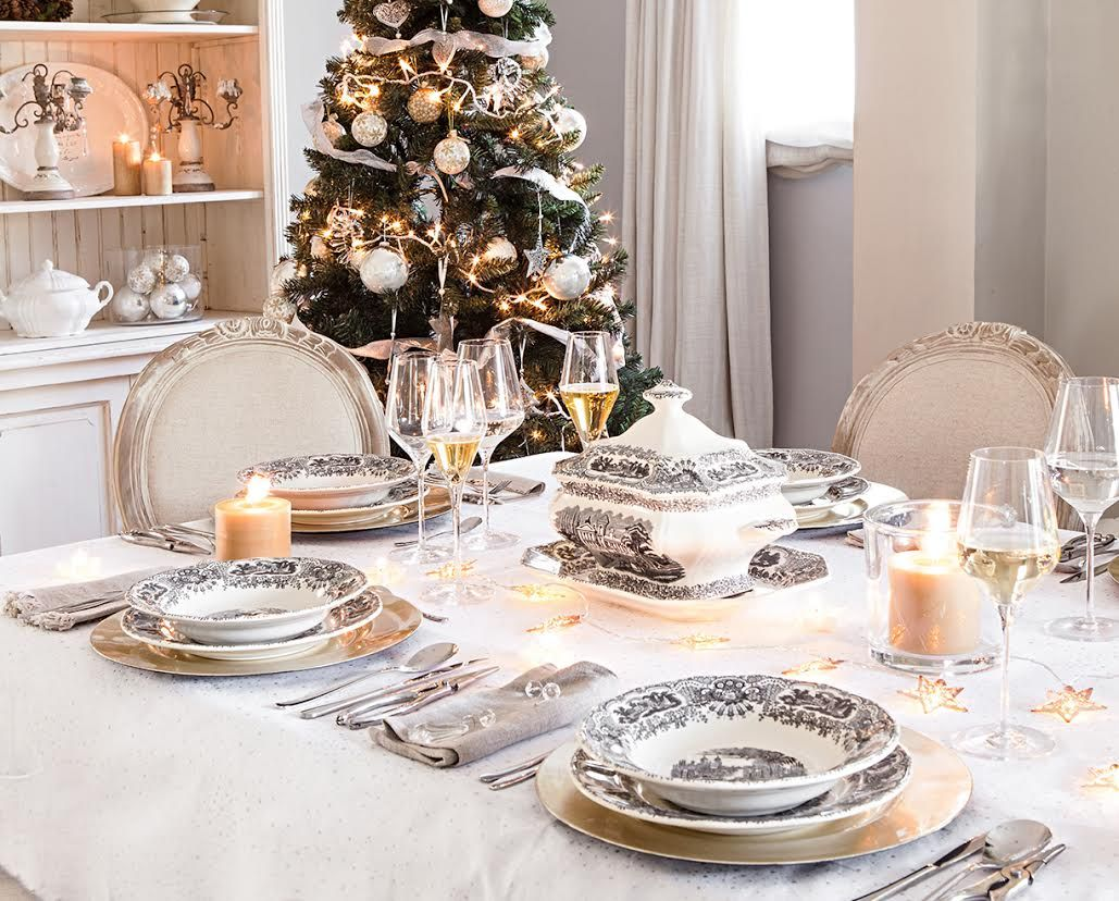 Elegante cl sica de tendencia y creativa descubre c mo for Mesa de navidad elegante