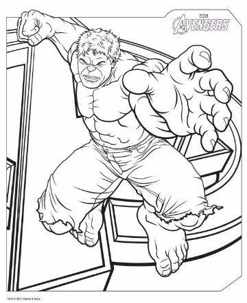 imagenes de hulk para colorear faciles  Super Heroes Marvel