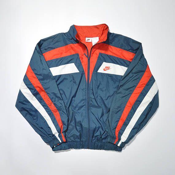 Vintage 90s Nike Multi Color Jacket Nike Windbreaker Old School Streetwear Trackop Jacket Nike Swoosh Big Log Vintage Jacket Outfit Clothes Hoody Outfits