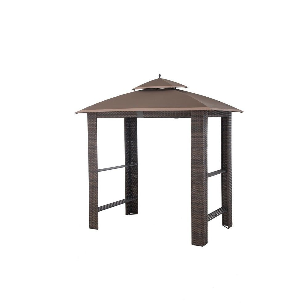 Sunjoy Replacement Canopy Set For L Gg074pst A Sonoma Grill Gazebo Brown Fabric In 2020 Grill Gazebo Gazebo Replacement Canopy