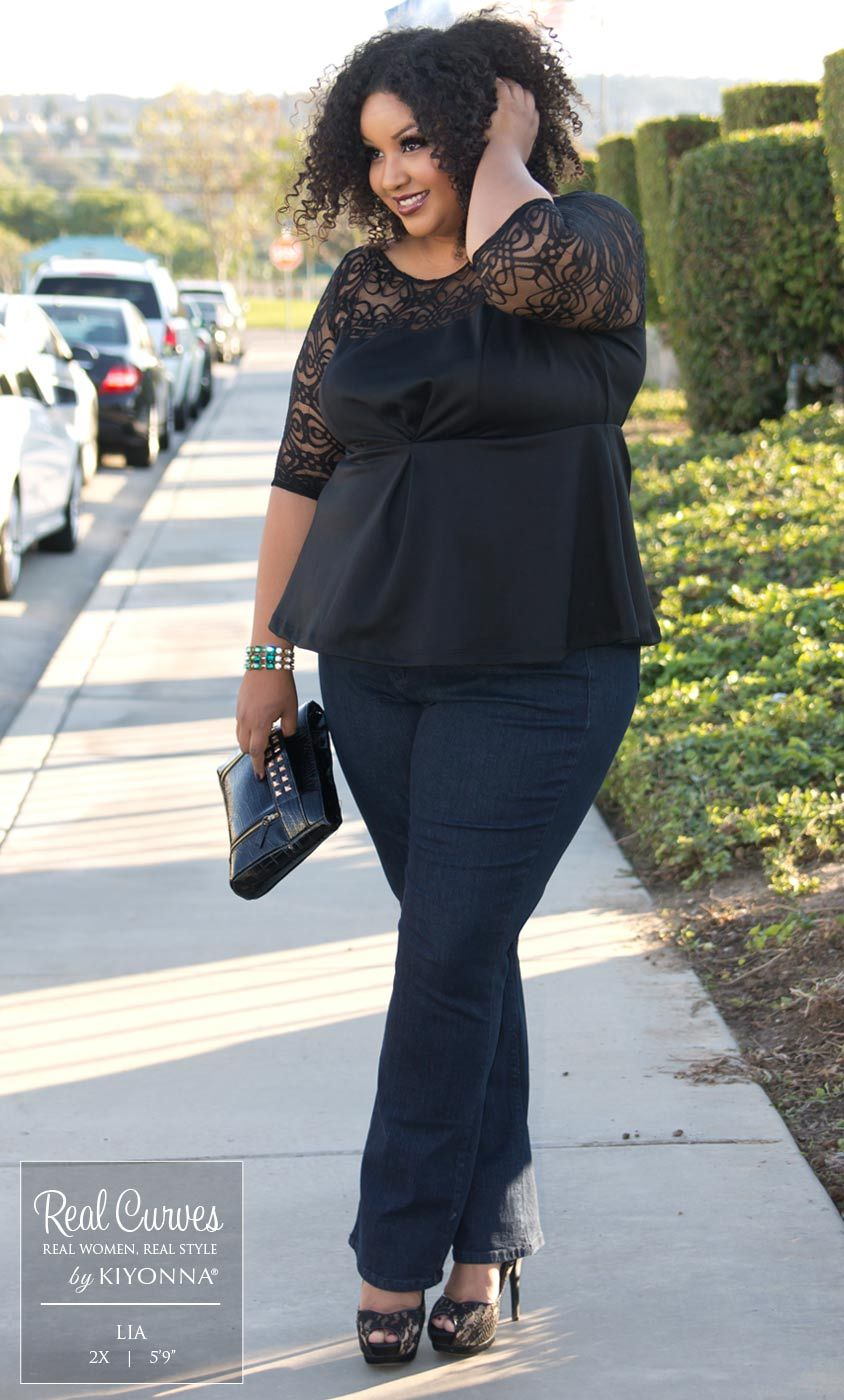 Real Curve Cutie Lia (59 and a size 2x) looks chic for a