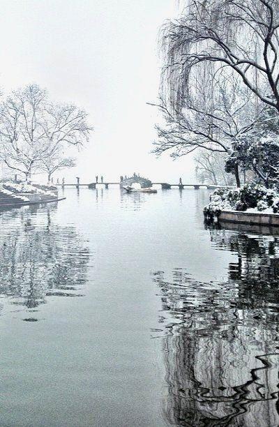 Winter In Hangzhou China Wisata Asia Hangzhou Pemandangan