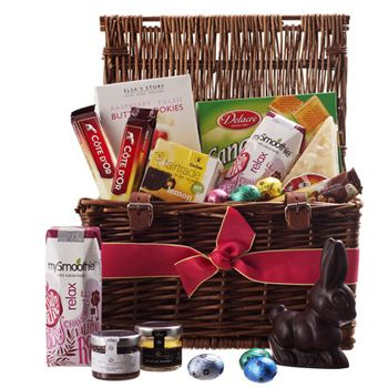 Easter Sunday Breakfast In Bed For Delivery To Europe Celebrate Spring Under The Covers With Easter Sunday Breakfast Chocolate Gifts Basket Breakfast In Bed