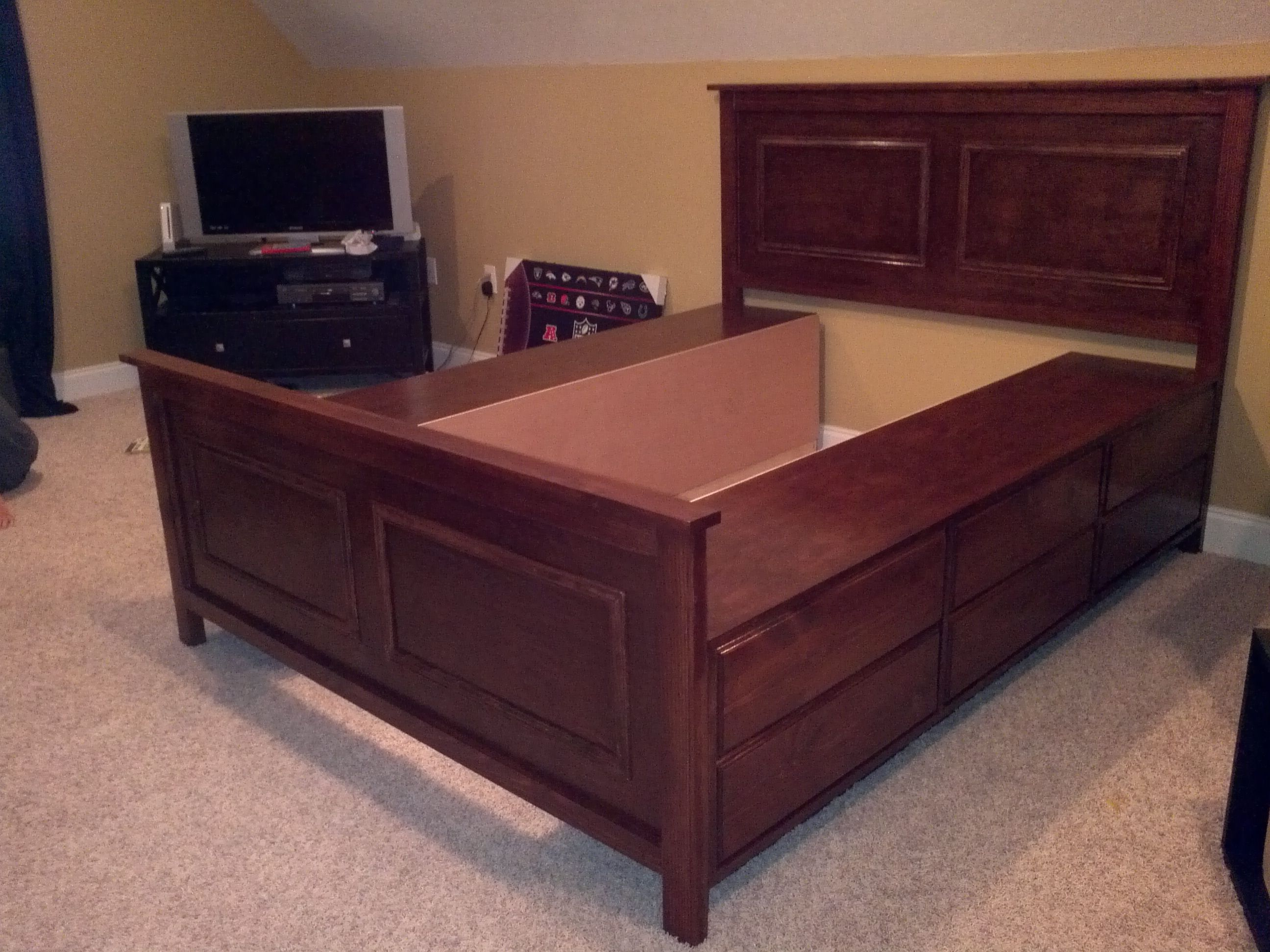 Queen Size Fillman Storage Bed Do It Yourself Home