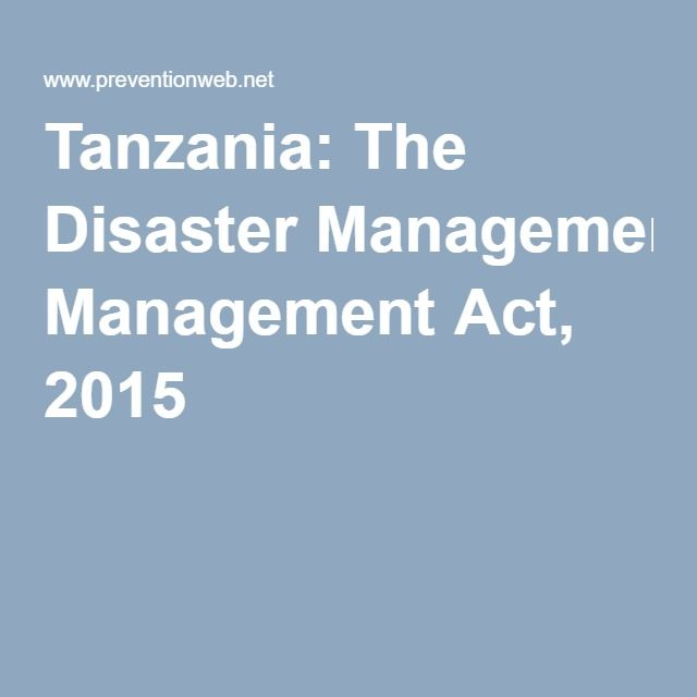 This Act Sets Out A Comprehensive Legal Framework For Disaster