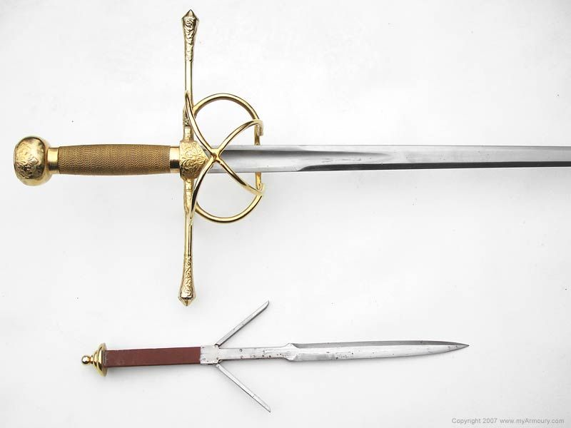This rapier was created to ingeniously conceal a separate parrying