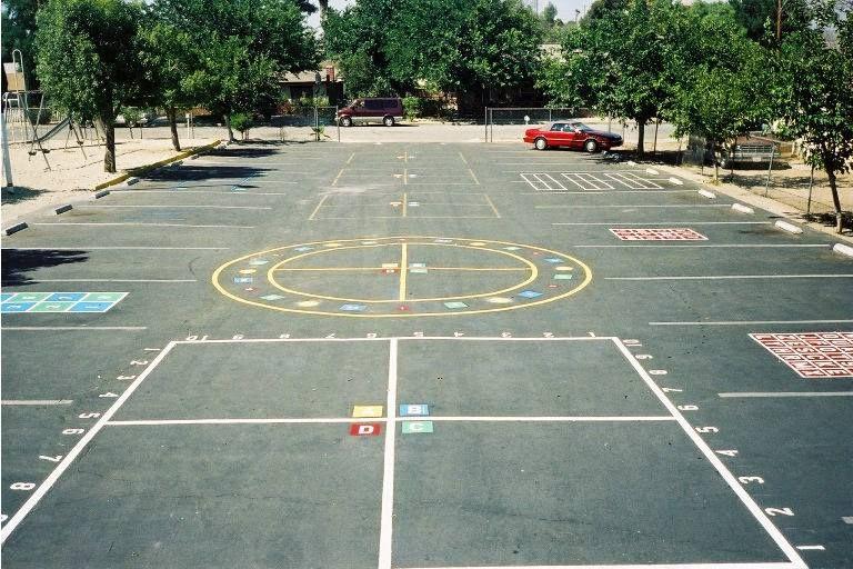 Driveway Chalk Games