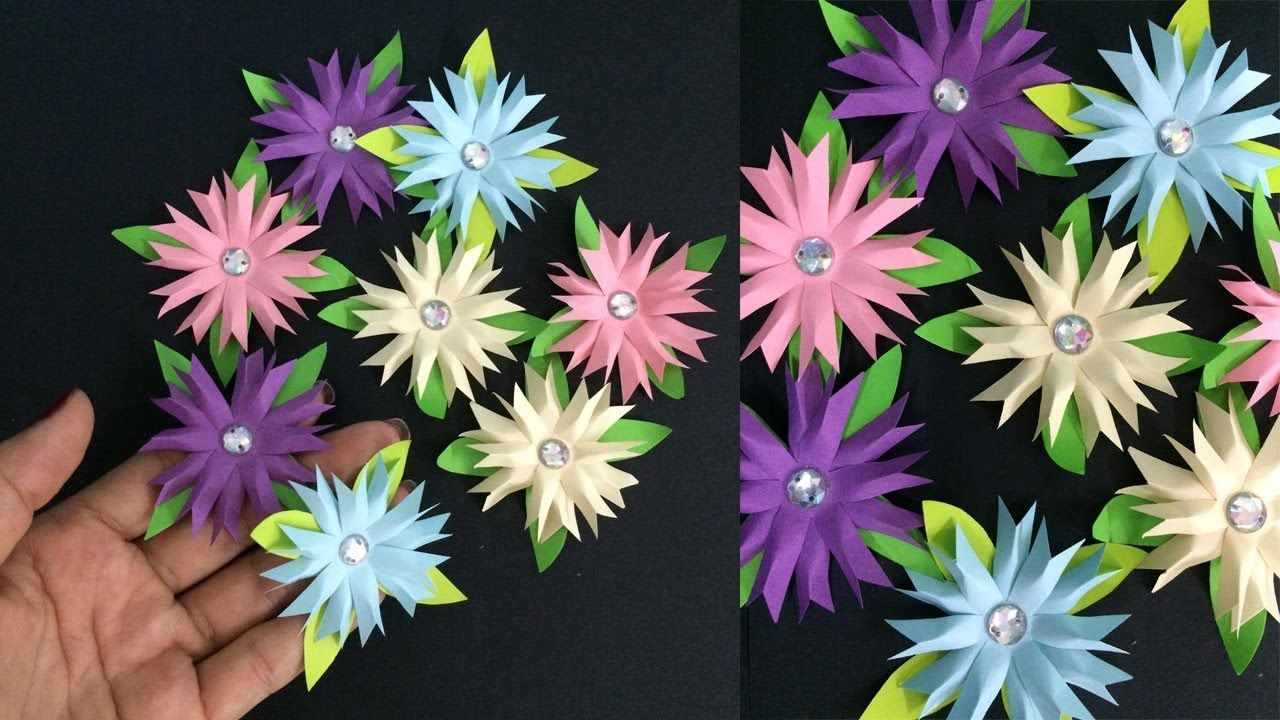 How To Make Small Flower With Paper Making Paper Flowers Step By