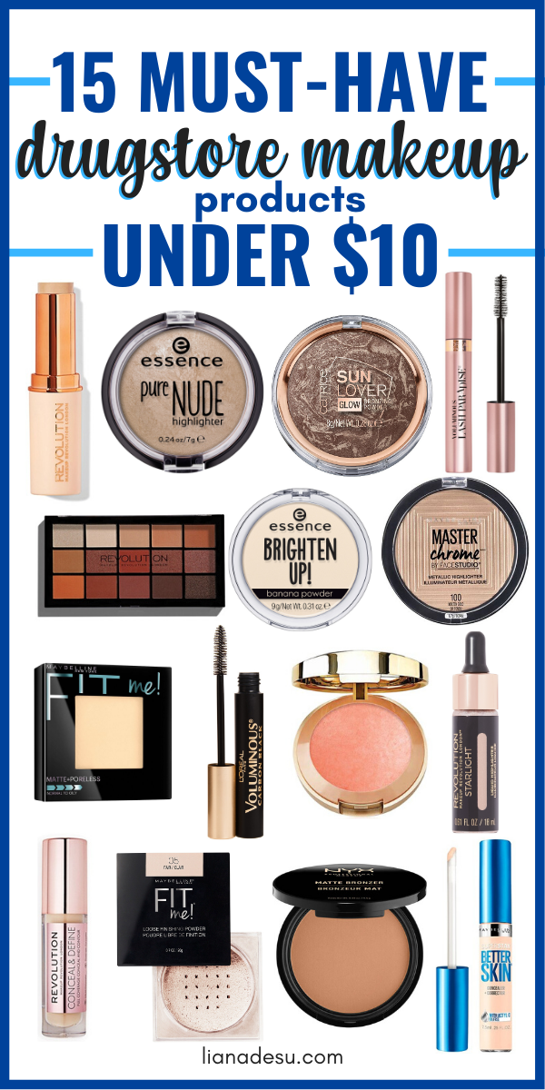 15 Best Drugstore Makeup Must Haves Under 10 Liana Desu In 2020 Best Drugstore Makeup Drugstore Makeup Makeup Must Haves