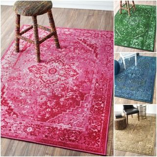 NuLOOM Traditional Vintage Inspired Overdyed Fancy Multi Rug (8u0027 X 10u0027)  (Tan), Brown, Size 8u0027 X 10u0027 (Nylon, Oriental)
