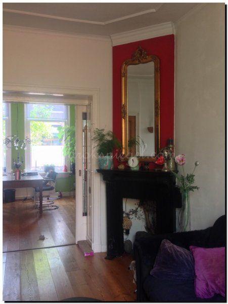 Spiegel met kuif antiekgoud boven schouw http www for Spiegel boven dressoir