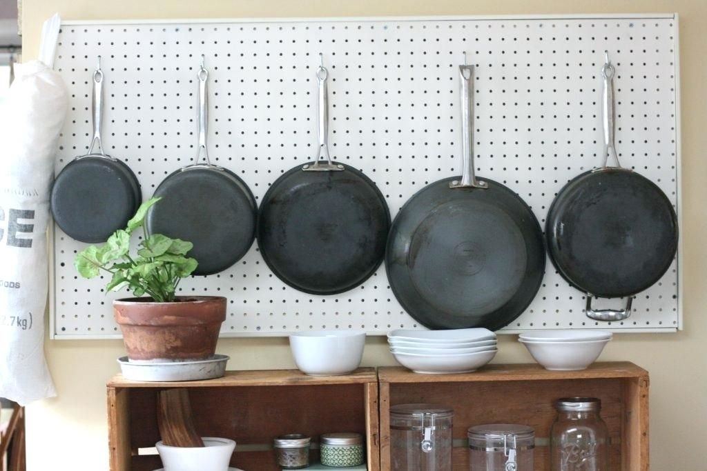 Hanging Pots On Wall Surprising Ideas And Pans