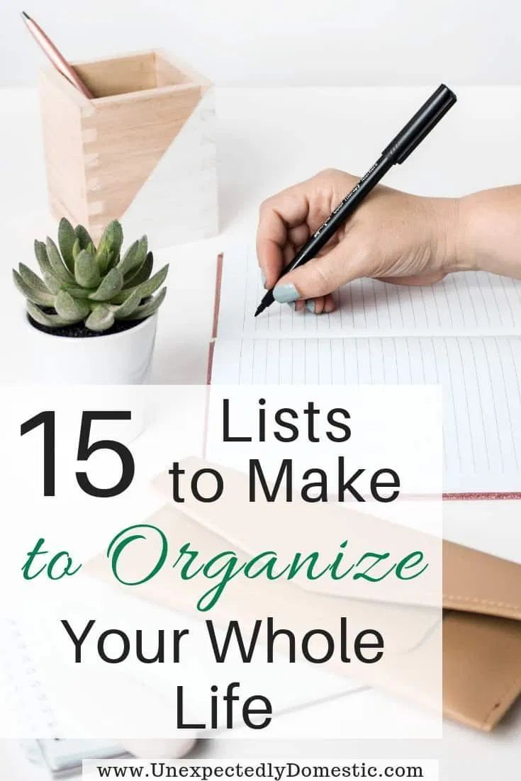 How to Organize Your Life With a Notebook: 15 Lists to Make to Stay On Track
