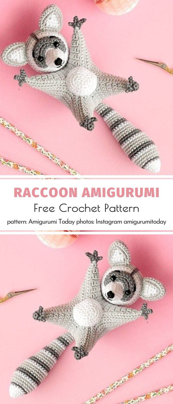 Photo of Raccoon Amigurumi Free Crochet Pattern