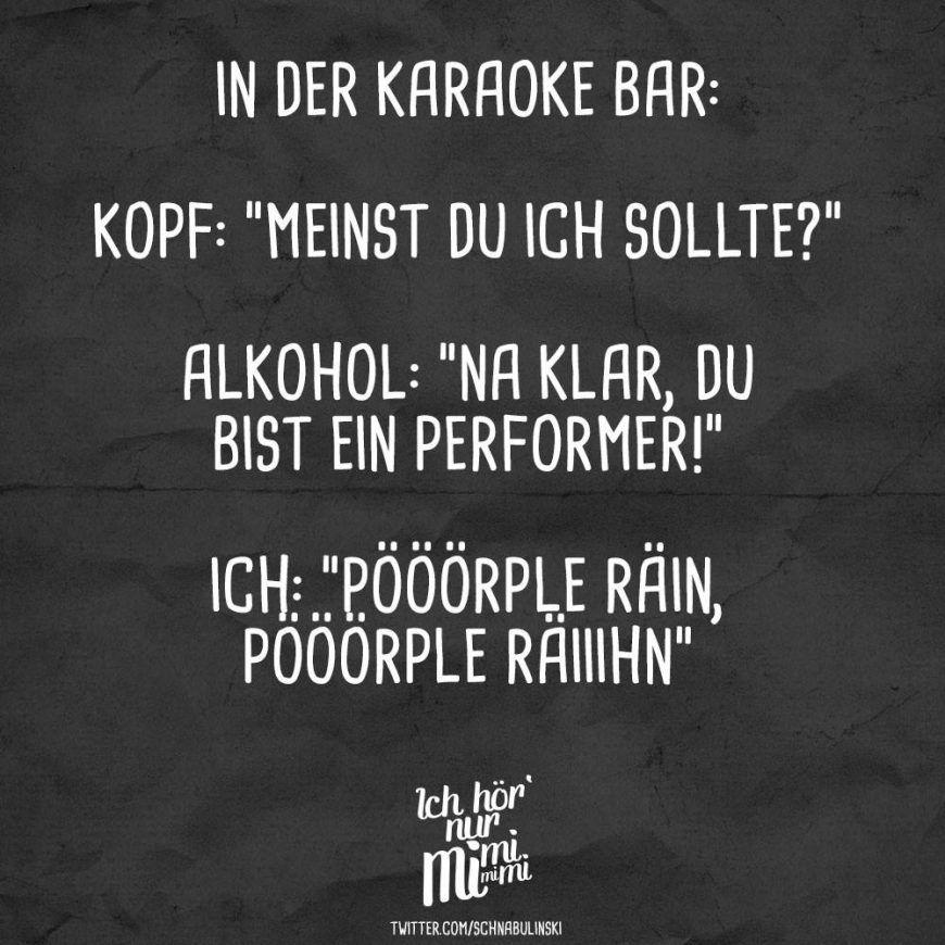 In Der Karaoke Bar Kopf Meinst Du Ich Sollte Alkohol