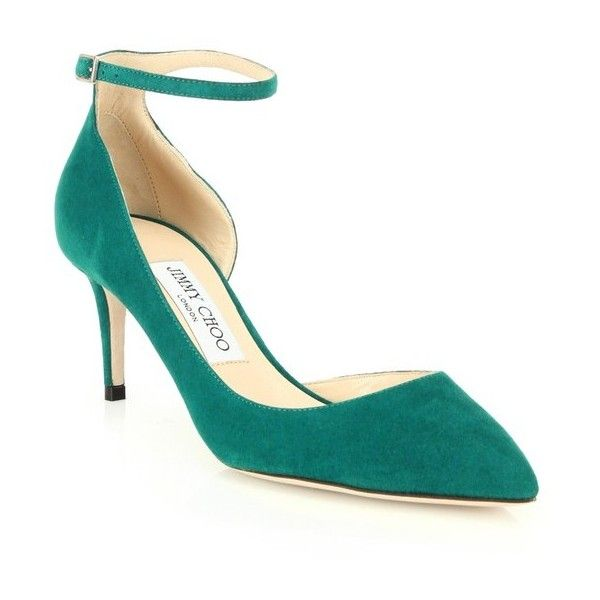 Designer Clothes, Shoes & Bags for Women | SSENSE. Suede ShoesTie ShoesPump  ShoesEmerald ShoesGreen SuedeDesigner HeelsWedgesAnkle StrapsJimmy Choo