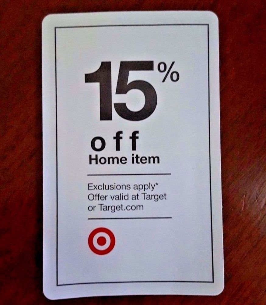 TARGET 15 OFF Coupon   Percent HOME Goods Item In STORE or ONLINE Promo  CODE Wow. TARGET 15 OFF Coupon   Percent HOME Goods Item In STORE or ONLINE