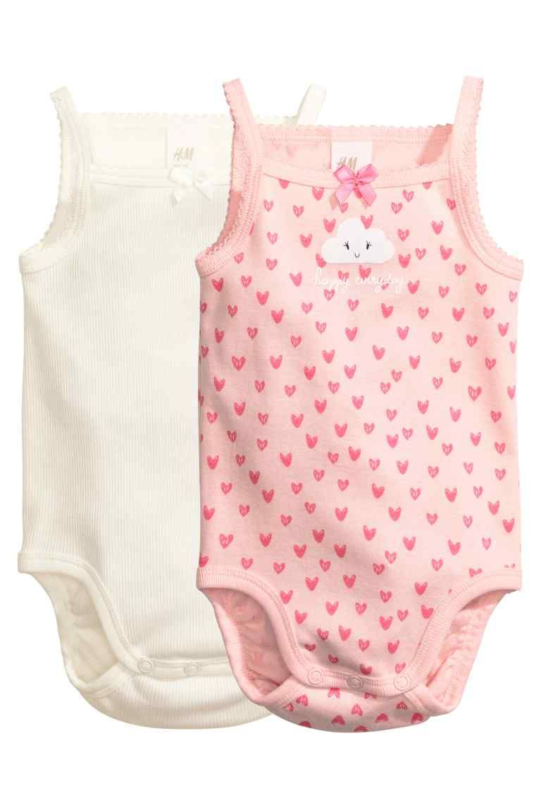 vest First size 100/% cotton white pink hearts Baby Girl/'s Bodysuit