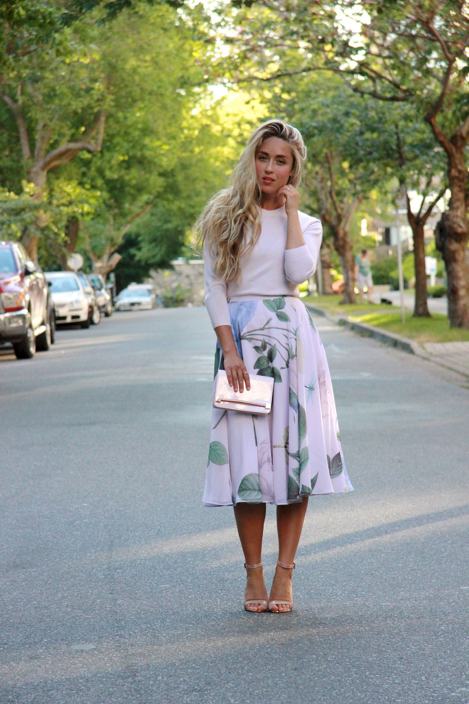 Ted Baker Sweater Skirt Clutch Amp Heels I Always Made Sure To Pop In Ted Baker On My Travels Guest Attire Summer Wedding Outfits Wedding Attire Guest [ 2250 x 1500 Pixel ]