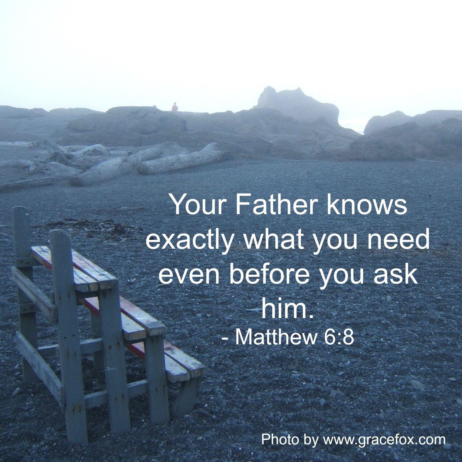 Hasil gambar untuk matthew 6:8