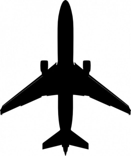 Airplane vector. Silhouette clip art boeing