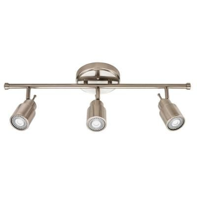 Lithonia lighting 2 ft 3 light brushed nickel led track lighting lithonia lighting 2 ft 3 light brushed nickel led track lighting fixed kit aloadofball Image collections