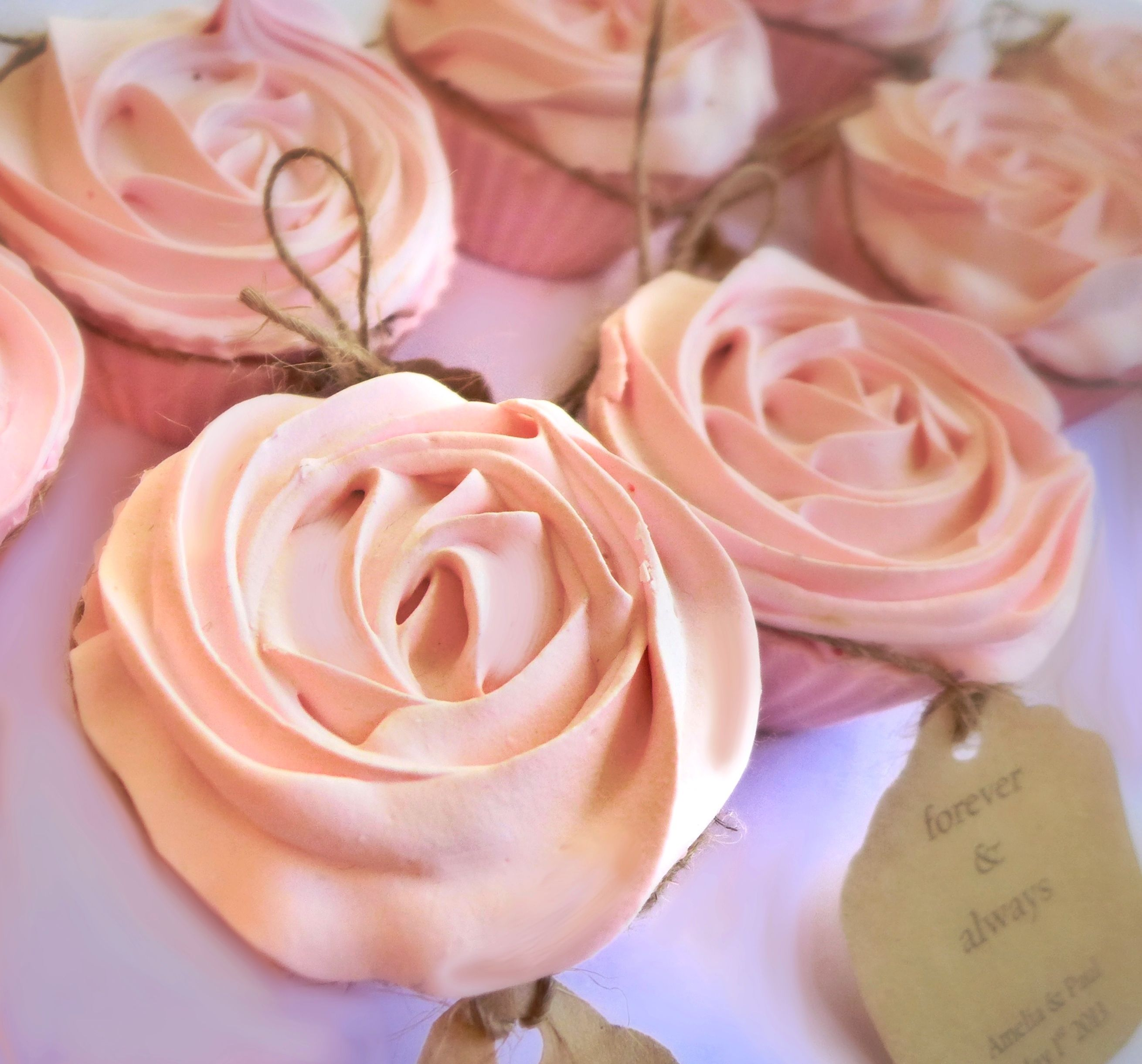 Wedding bonbonniere rose scented soaps, made by Cleanse With ...