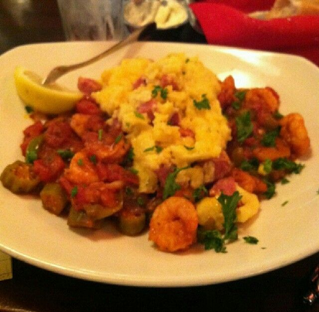 pappadeaux seafood kitchen shrimp creole grits with creamy andouille cheese grits - Pappadeaux Seafood Kitchen Menu