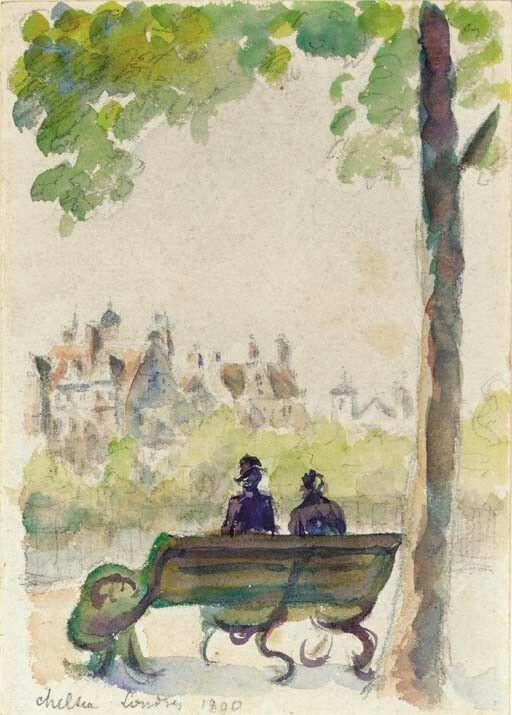 Camille Pissarro Chelsea Londres 1890 Comment Peindre Camille Pissarro Musee Des Beaux Arts