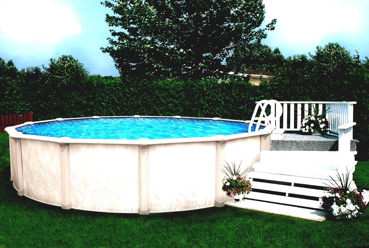 Kleine Deck Fur Oben Genannte Boden Pool Ideen Gartendeko Mit
