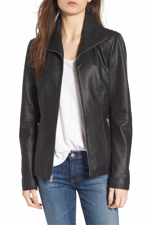 Andrew Marc Fabian Feather Leather Jacket Leather jacket