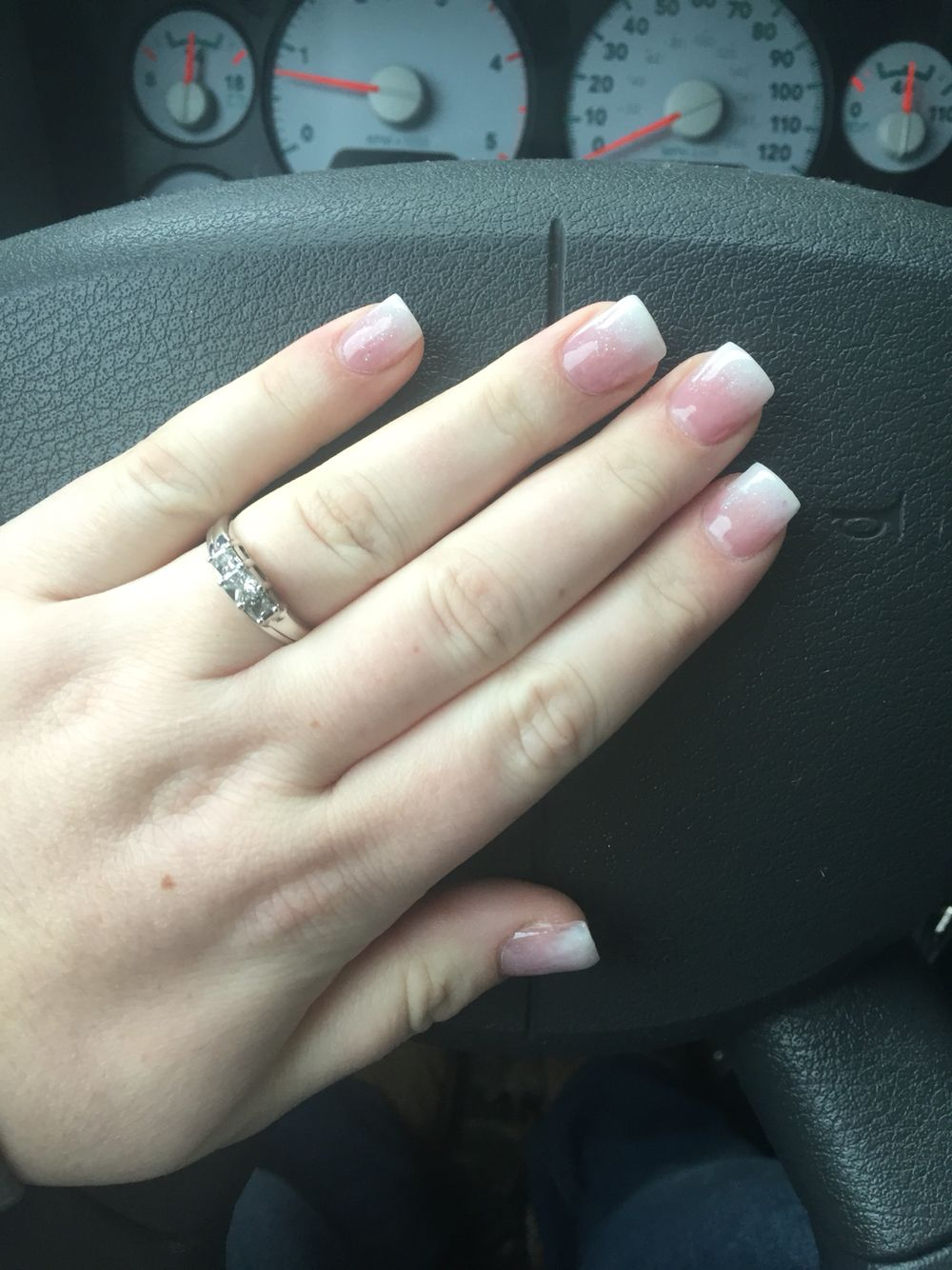 Princess Nails Faded French Tip French Tip Acrylic Nails Faded Nails French Nails